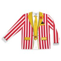 University of Maryland Men's Large Striped Faux Suit Long Sleeve T-Shirt