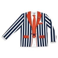 University of Virginia Men's Large Striped Faux Suit Long Sleeve T-Shirt
