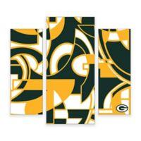NFL Green bay Packers 3-Piece Canvas Modern Wall Art Set
