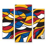 NFL Pittsburgh Steelers 3-Piece Canvas Modern Wall Art Set