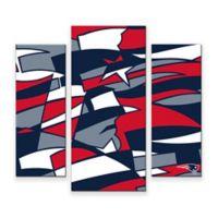 NFL New England Patriots 3-Piece Canvas Modern Wall Art Set