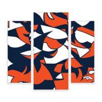 NFL Denver Broncos 3-Piece Canvas Modern Wall Art Set