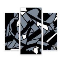 NFL Oakland Raiders 3-Piece Canvas Modern Wall Art Set