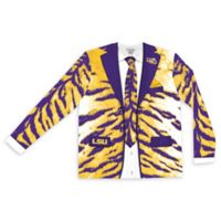 LSU Men's Large Faux Tiger Skin Suit Long Sleeve T-Shirt