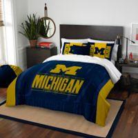 University of Michigan Embroidered King Comforter Set