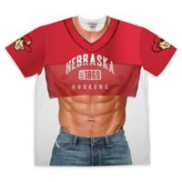 University of Nebraska Men's Large Faux Cropped Jersey and Abs Short Sleeve T-Shirt