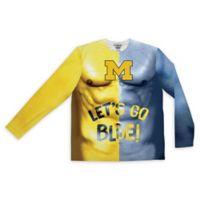 University of Michigan Men's Medium Body Paint Long Sleeve T-Shirt