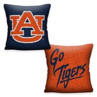 Auburn Tigers Double Sided Woven Jacquard Pillow