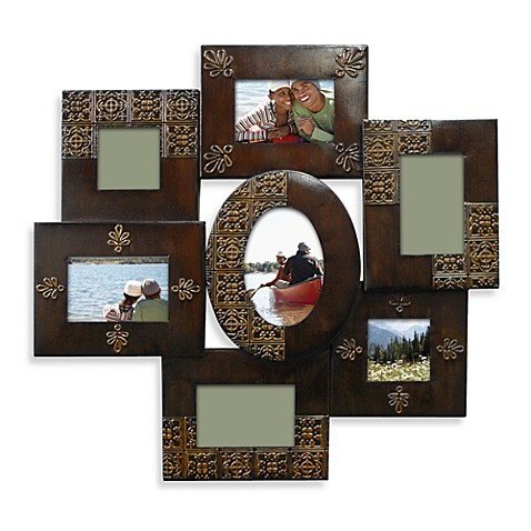 Oil Rubbed 7-Opening Collage Frame in Bronze