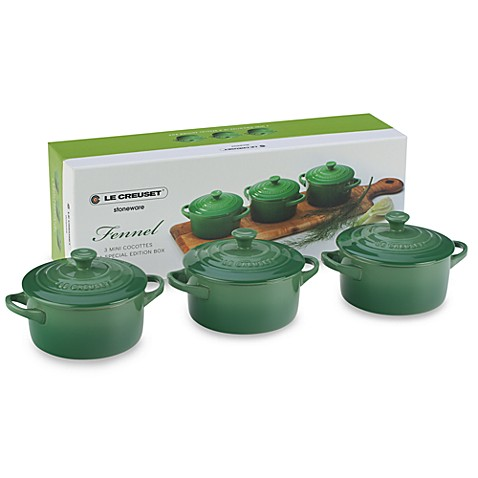 Le Creuset® Mini Cocottes in Fennel