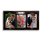 Our Wedding Day Black Ceramic Glazed Frame