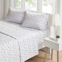 Intelligent Design Novelty Llama Printed King Sheet Set in Grey