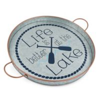 Thirstystone® Life at the Lake Galvanized Round Tray with Handles