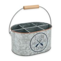 Thirstystone® Life at the Lake Galvanized Flatware Caddy