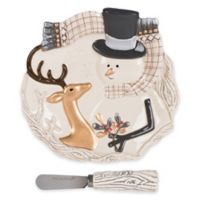 Fitz and Floyd® Wintry Woods Snowman Appetizer Plate with Spreader
