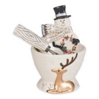 Fitz and Floyd® Wintry Woods Snowman Dip Bowl with Spreader