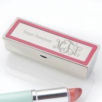 Curly Monogram Engraved Lipstick Case