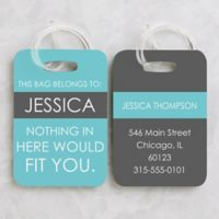 Full Of Wit Luggage Tags (Set of 2)