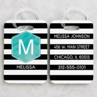 Modern Stripe Luggage Tags (Set of 2)