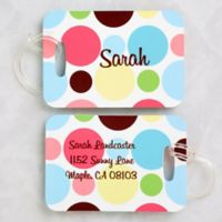 Crazy For Polka Dots Luggage Tags (Set of 2)