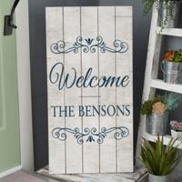 Welcome Standing Wood Sign