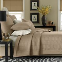 Real Simple® Dune Twin Reversible Coverlet in Taupe
