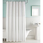 Gianna Shower Curtain in White/Pink