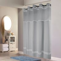 Hookless® Monterey Shower Curtain in Grey/White