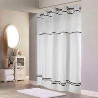 Hookless® Monterey Shower Curtain in White/Black
