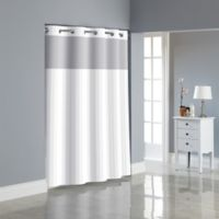 Hookless® Victorian Satin Stripe Shower Curtain in White