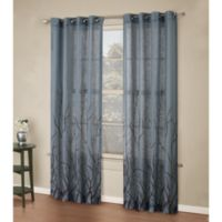 Alton Print 95-Inch Grommet Top Panel in Blue