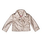 Urban Republic Size 24M Metallic Moto Jacket in Silver