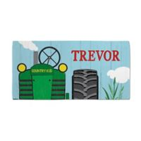 Tractor Beach Towel in Blue/Green