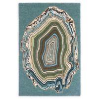 Liora Manne Agate 5' x 7'6 Hand Tufted Area Rug in Aqua/Blue