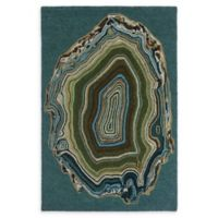 Liora Manne Agate 7'6 x 9'6 Hand Tufted Area Rug in Aqua/Blue