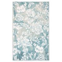 Liora Manne Jadu Floral 5' x 7'6 Hand Tufted Area Rug in Aqua/Blue