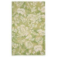 Liora Manne Jadu Floral 7'6 x 9'6 Hand Tufted Area Rug in Sage