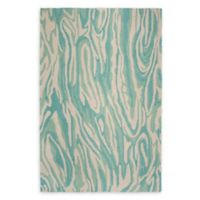 Liora Manne Marble 5' x 7'6 Hand Tufted Area Rug in Aqua/Blue