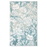 Liora Manne for Trans Ocean Floral 8'3 x 11'6 Area Rug in Aqua