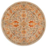 Safaiveh Antiquity Magda 6' Round Area Rug in Beige