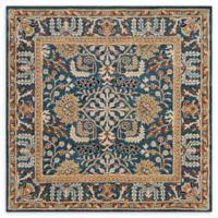 Safavieh Antiquity Nellie 6' Square Area Rug in Dark Blue