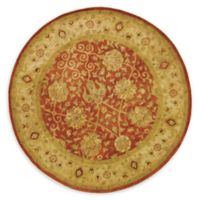 Safavieh Antiquity Brielle 8' Round Handcrafted Area Rug in Rust