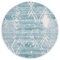 Jill Zarin Uptown 8' Round Area Rug in Turquoise