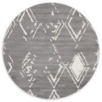 Jill Zarin Uptown 8' Round Rug in Grey