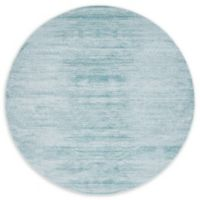 Jill Zarin Madison Avenue Uptown 8' Round Power-Loomed Area Rug in Turquoise