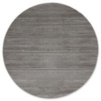 Jill Zarin Madison Avenue Uptown 8' Round Power-Loomed Area Rug in Grey