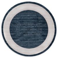 Jill Zarin Yorkville 8' Round Area Rug in Navy Blue
