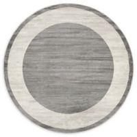 Jill Zarin Yorkville 8' Round Area Rug in Grey