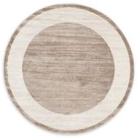 Jill Zarin Yorkville 8' Round Area Rug in Light Brown