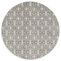 Jill Zarin Fifth Ave 8' Round Area Rug in Grey